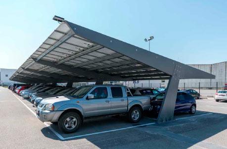 Instal·lació Marquesina plaques solars per autoconsum elèctric